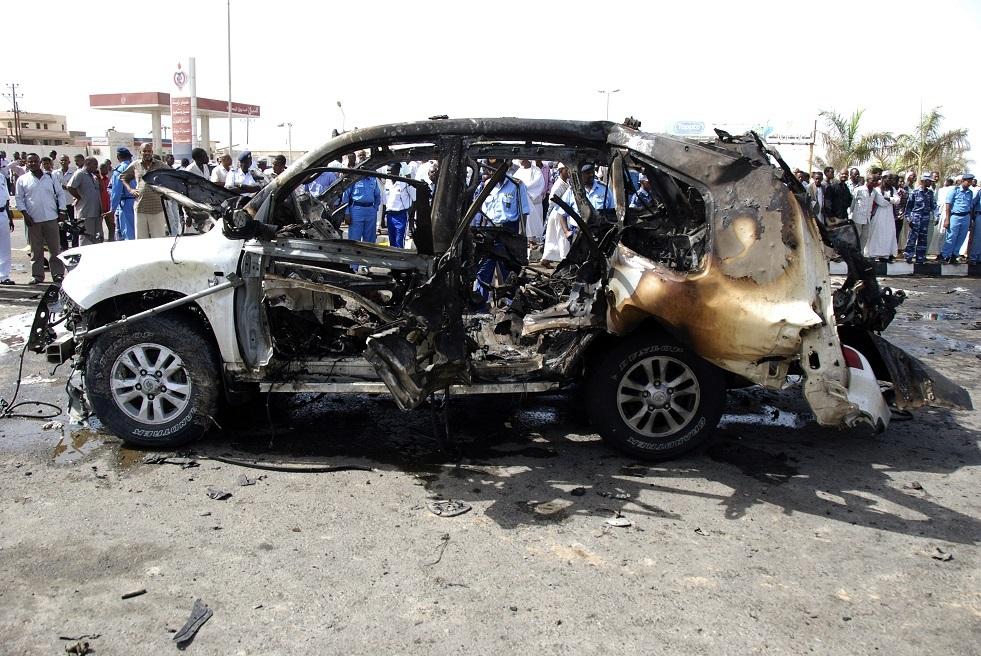 صورة أرشيفية لتفجير سيارة مفخخة في السودان
