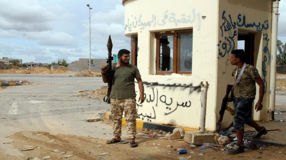 مسلحون تابعون لحكومة الوفاق الوطني في طرابلس