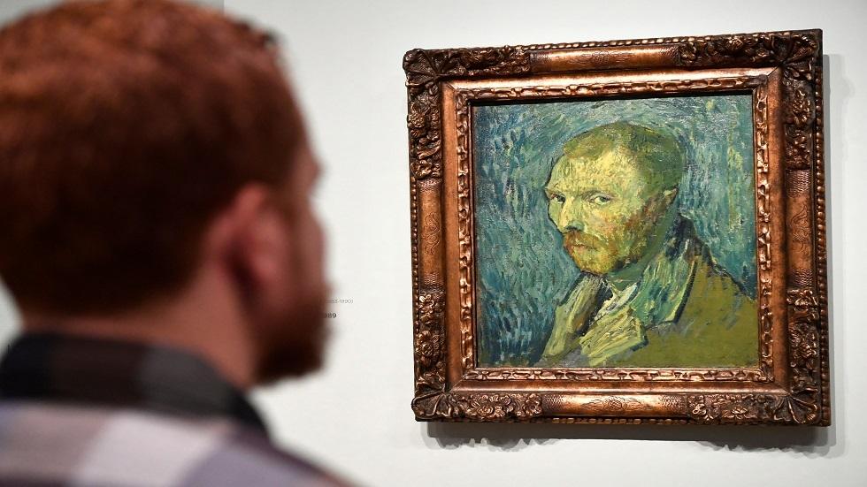 لوحة فان غوخ  التي رسمها لنفسه