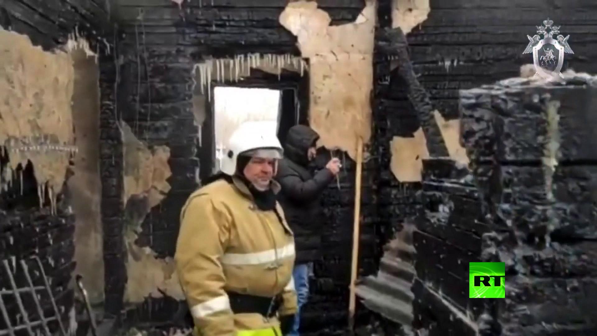 حريق في مقاطعة تومسك الروسية يودي بحياة 11 شخصاً