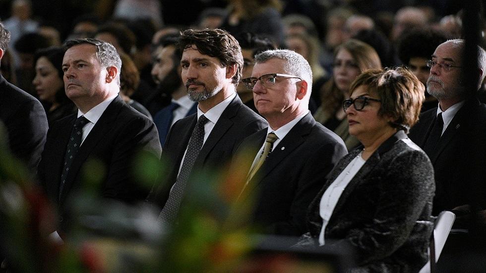 رئيس وزراء كندا جاستين ترودو ومسؤولون آخرون يحضرون صلاة على أرواح ضحايا الطائرة الأوكرانية المنكوبة