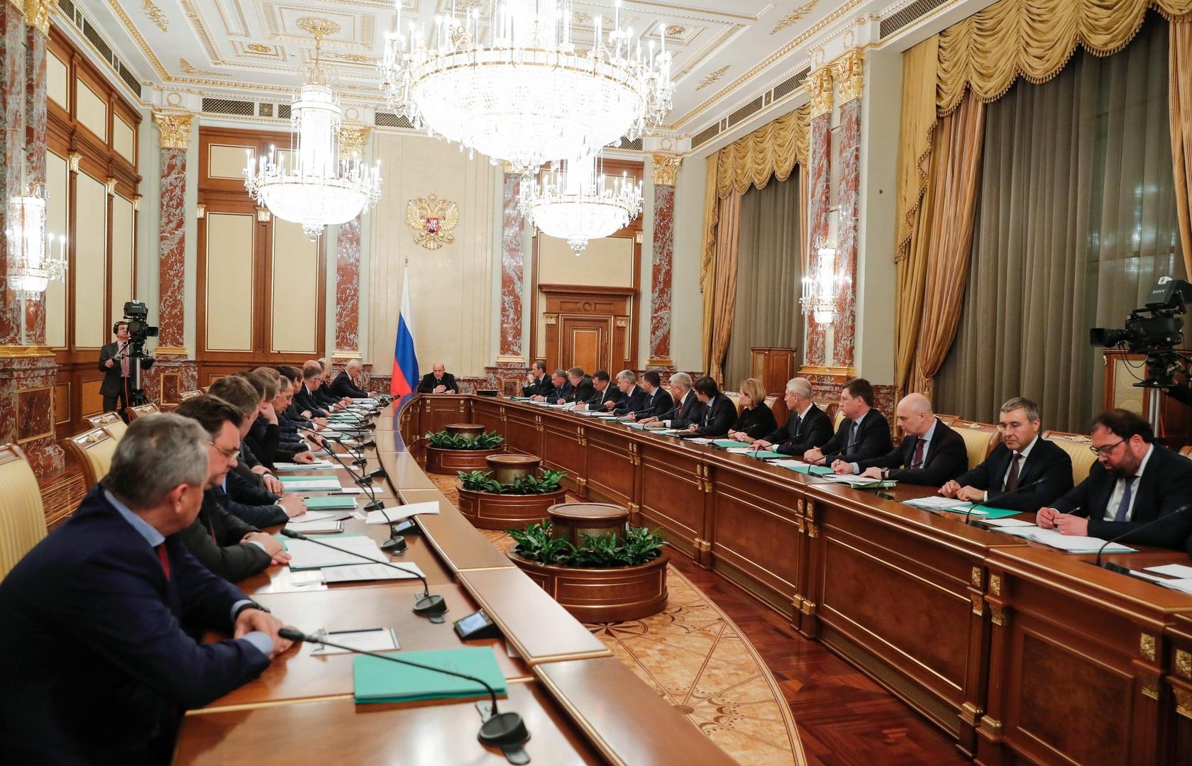 أول اجتماع للحكومة الروسية الجديدة برئاسة ميخائيل ميشوستين