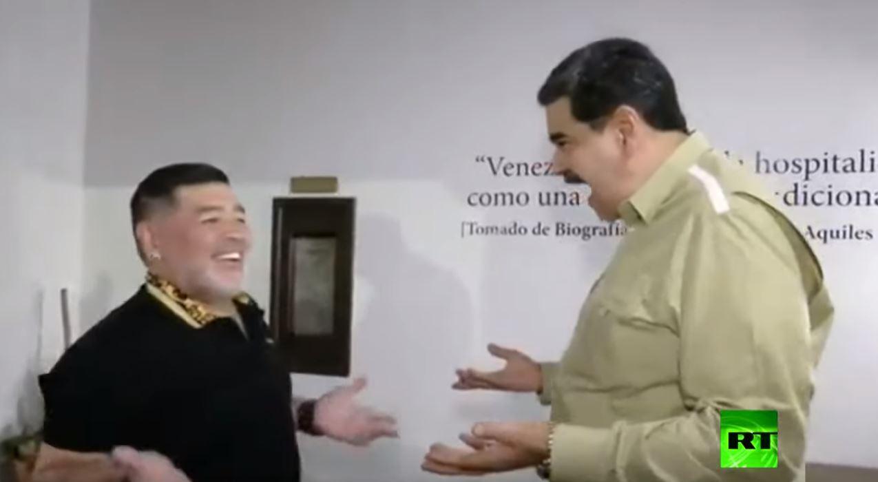 مادورو لمارادونا: فنزويلا رفيقتك وتوأم روحك