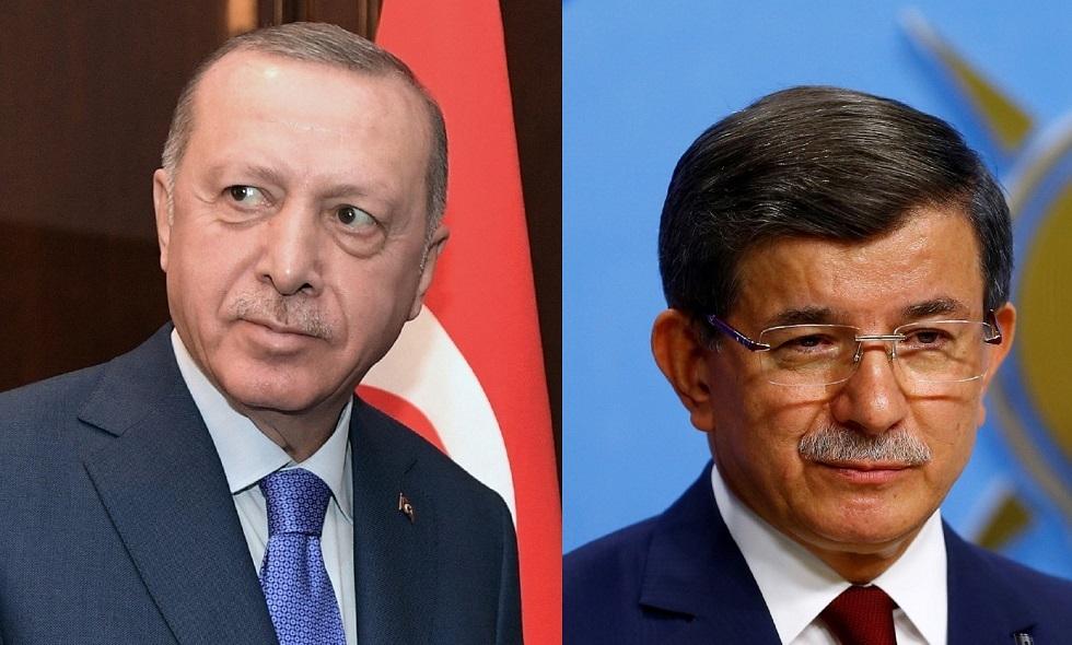 رئيس الوزراء الأسبق، أحمد داود أوغلو، والرئيس التركي رجب طيب أردوغان