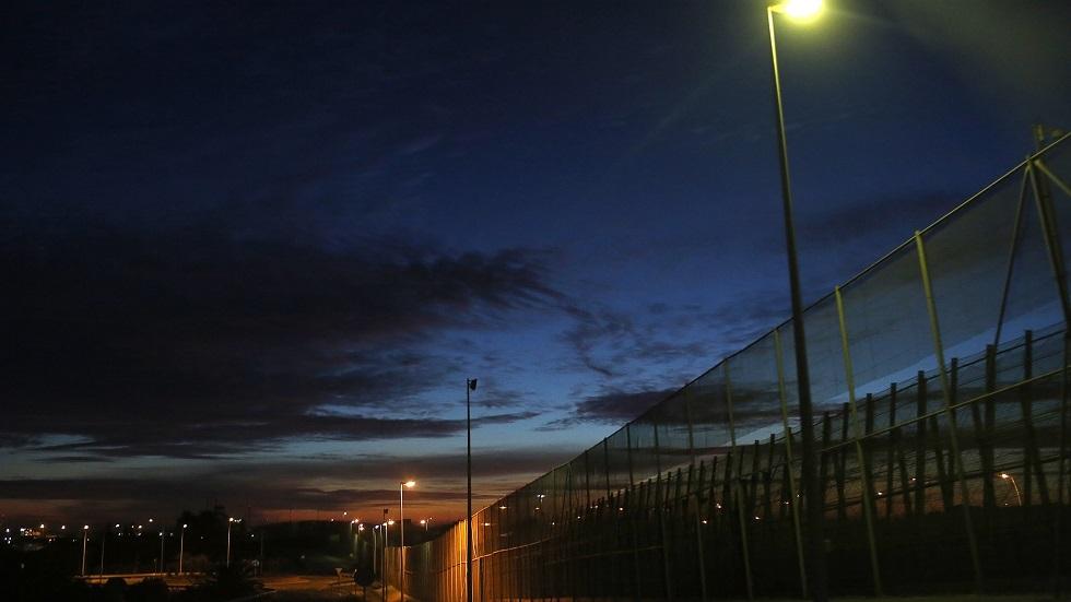 السياج الحدودي في مدينة مليلية المغربية