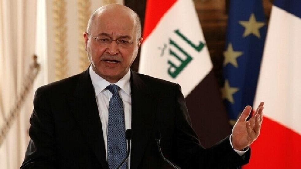 الرئيس العراقي يعلن حصيلة قتلى الاحتجاجات