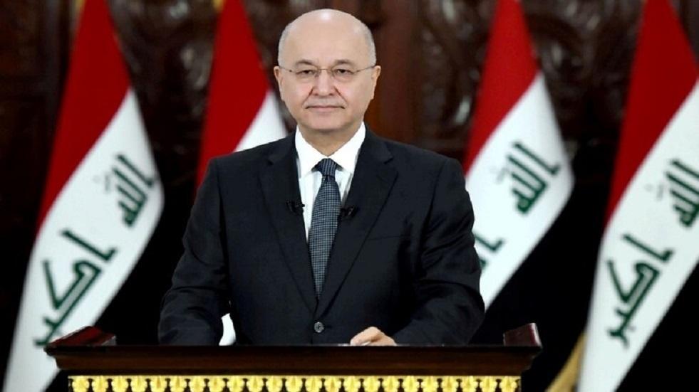 برهم صالح يشدد على أهمية حسن العلاقات بين العراق وإيران
