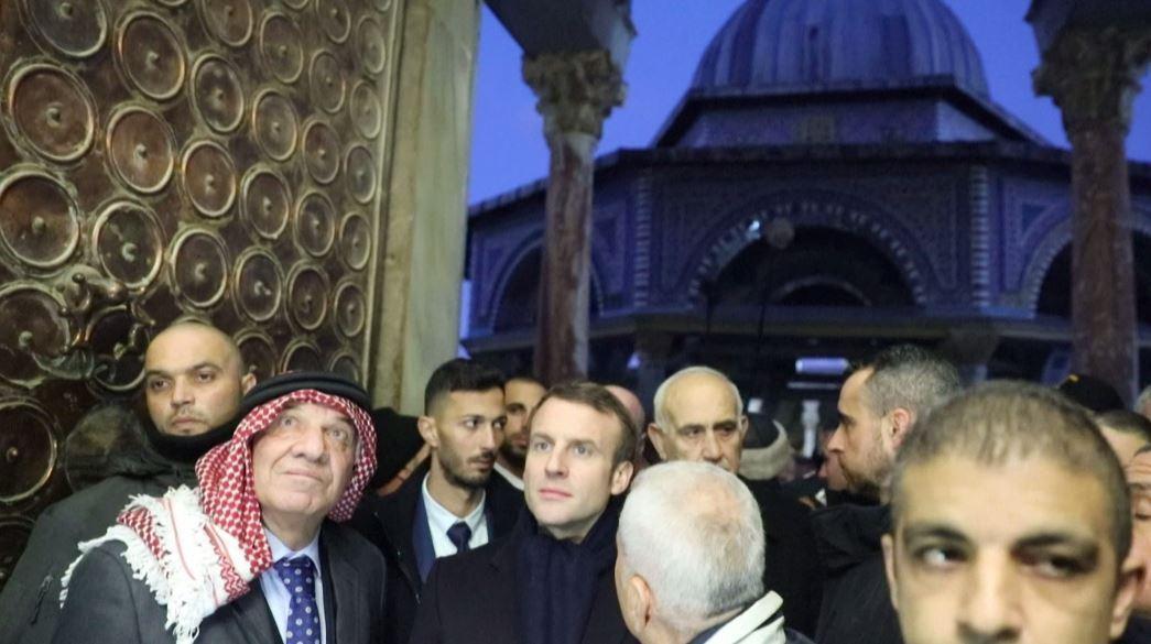 ماكرون يزور المسجد الأقصى وحائط البراق