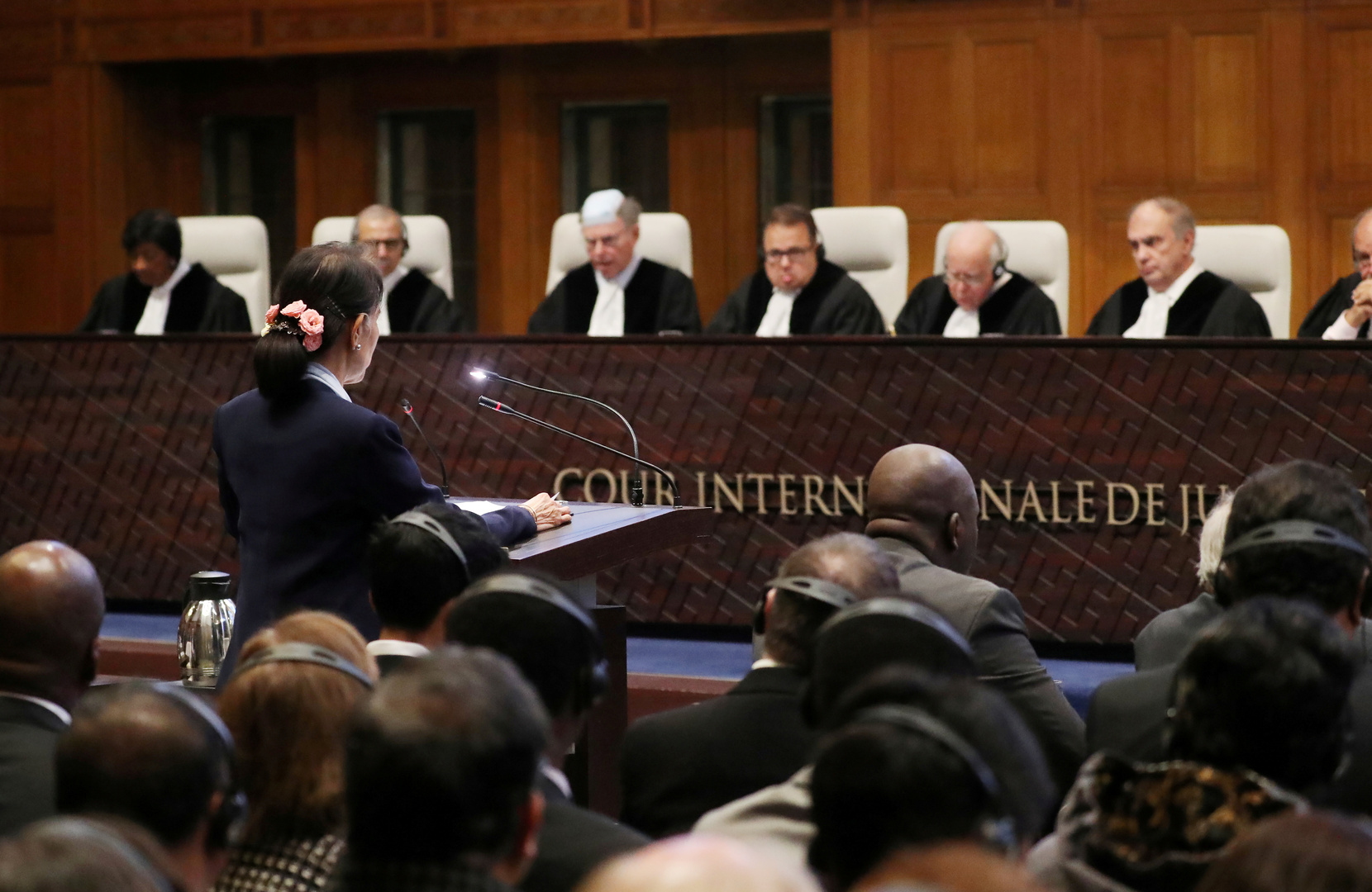 جلسات المحكمة في قضية ضد ميانمار في لاهاي- أرشيف