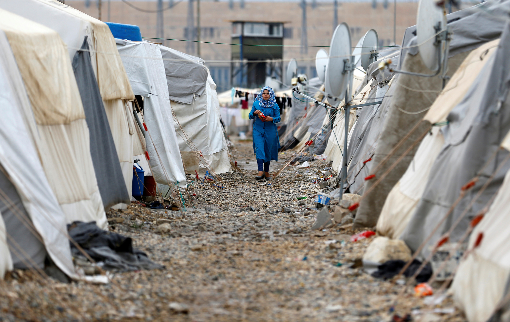 مخيم نيزيب لللاجئين السوريين في تركيا (أرشيف).