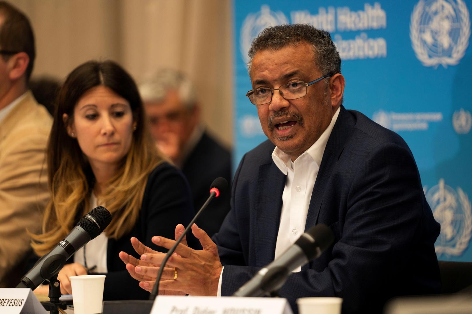 المدير العام لمنظمة الصحة العالمية، تيدروس أدان غيبرييسوس.