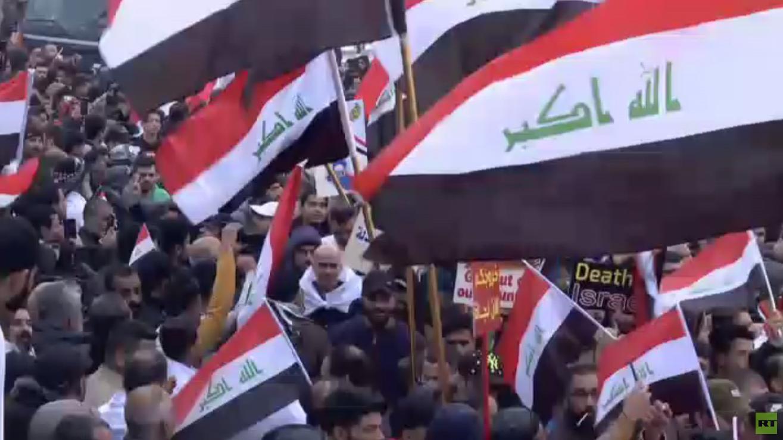 تظاهرات حاشدة ضد الوجود الأجنبي في العراق