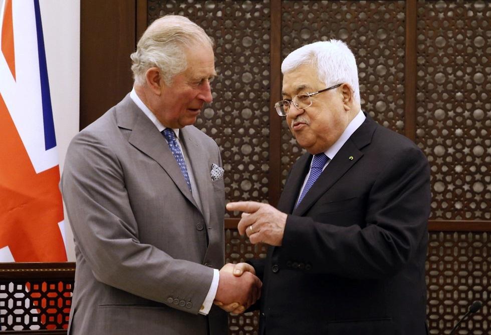 الرئيس الفلسطيني محمود عباس، و ولي العهد البريطاني الأمير تشارلز