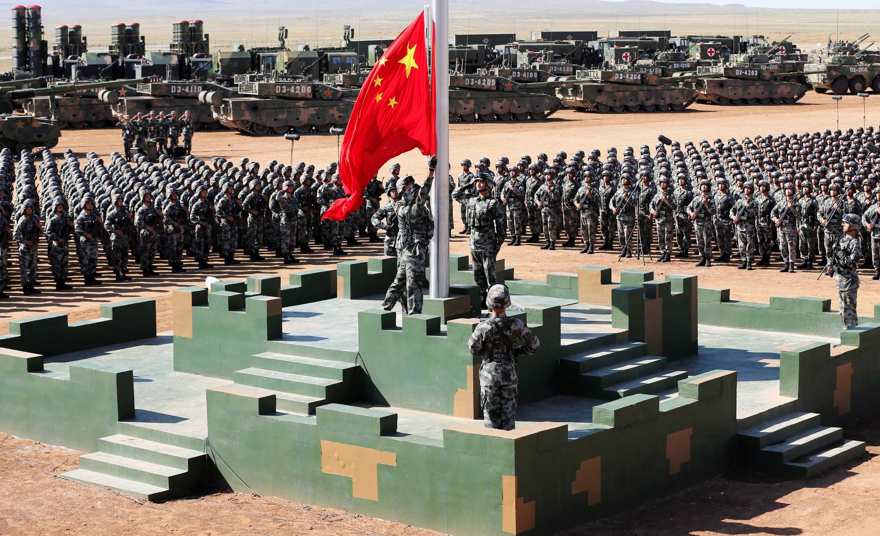 قوات من الجيش الصيني خلال عرض عسكري (30 يوليو 2017).