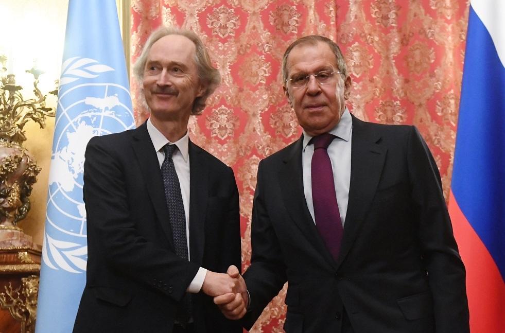 الخارجية الروسية:لافروف ناقش مع بيدرسن عمل اللجنة الدستورية السورية