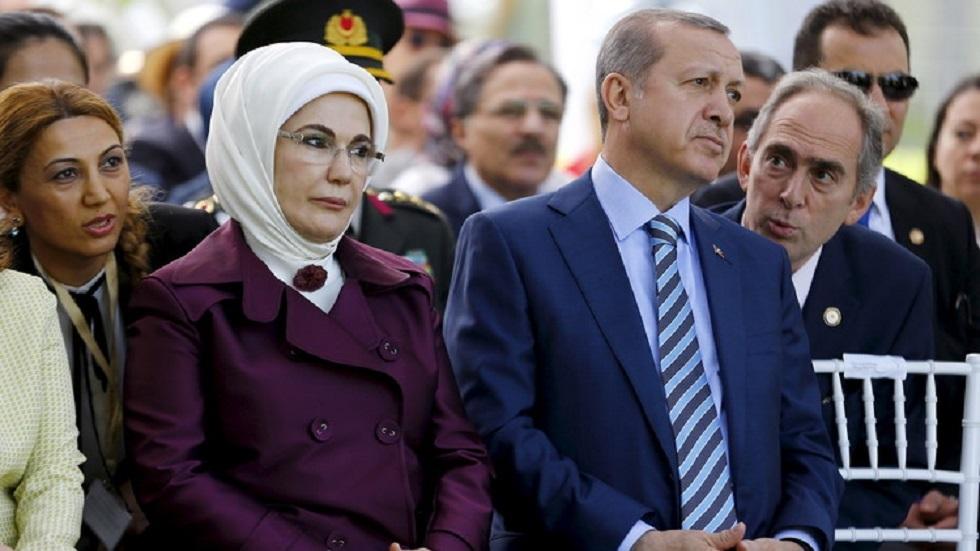 عقيلة أردوغان تواسي متضرري الزلزال