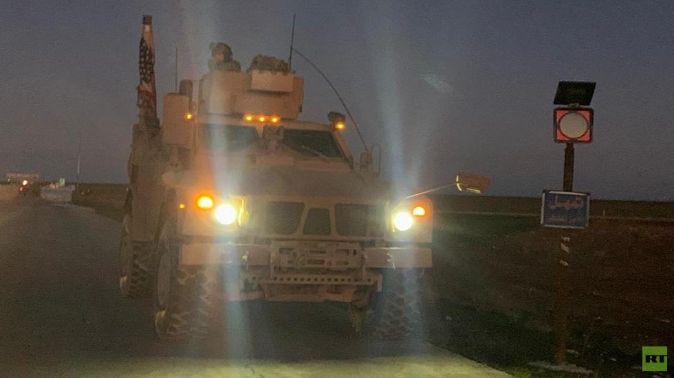 فيديو وصور.. قوات أمريكية شمال شرقي سوريا تتحرك باتجاه طريق M4 الدولي