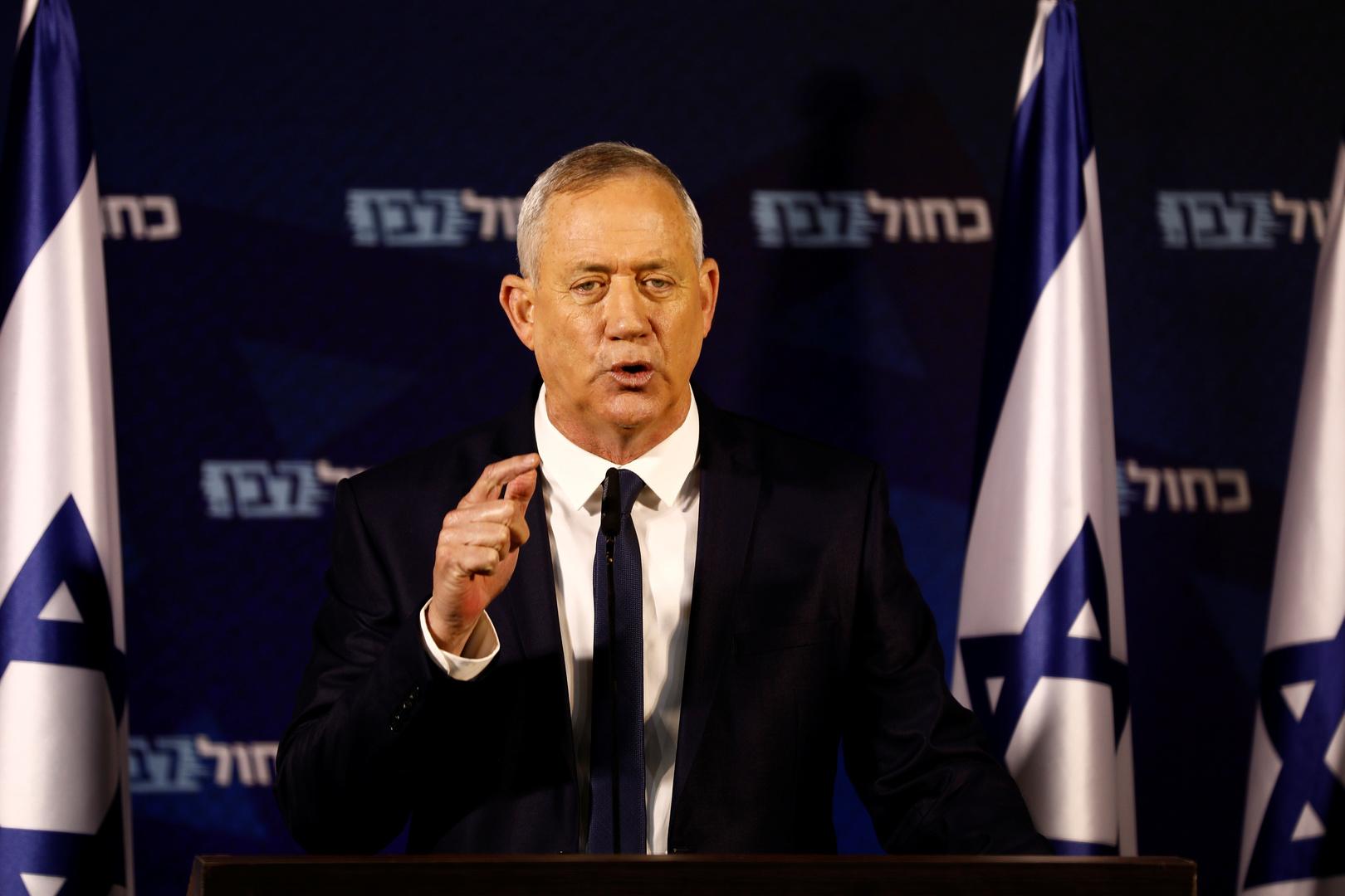 """زعيم تحالف """"أزرق-أبيض"""" الإسرائيلي، بيني غانتس"""