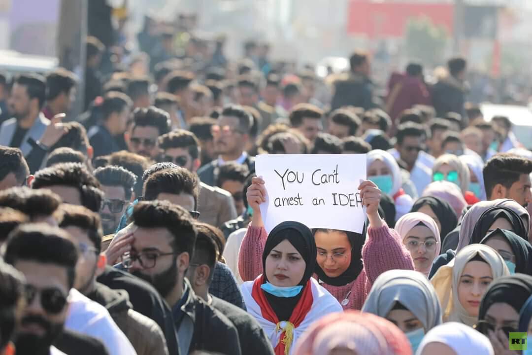 العراق.. تظاهرات طلابية حاشدة في بغداد والمحافظات الجنوبية (فيديو)
