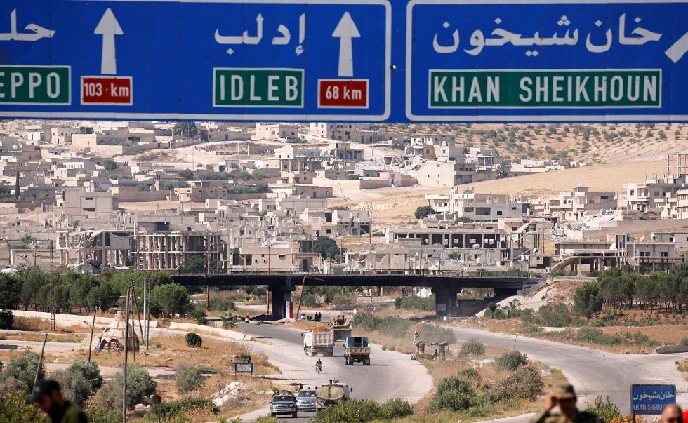 مدخل خان شيخون، إدلب، سوريا 24 أغسطس 2019