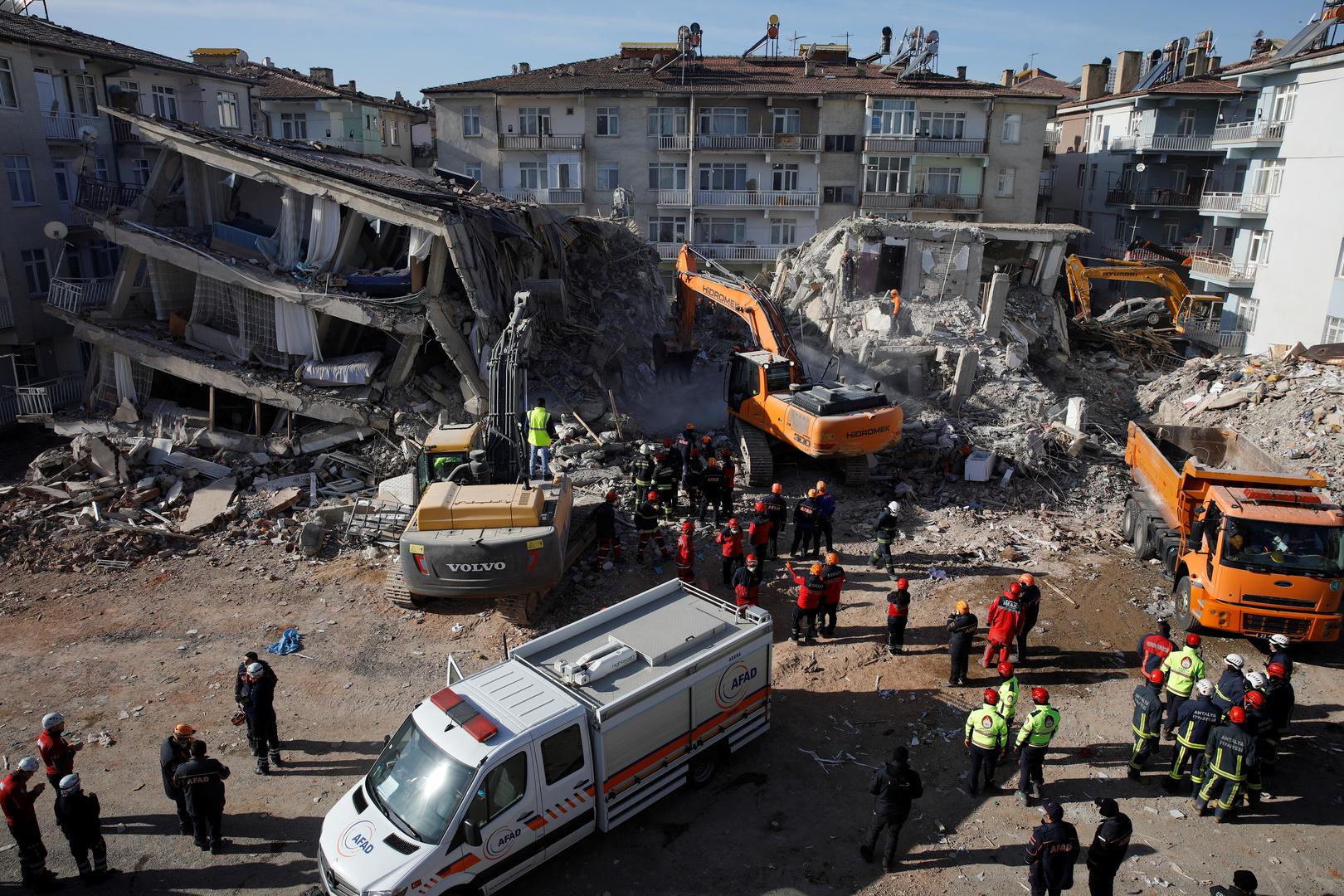 أعمال البحث والإنقاذ عقب زلزال ألازيغ