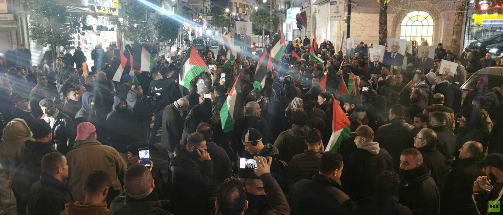 احتجاجات فلسطينية على