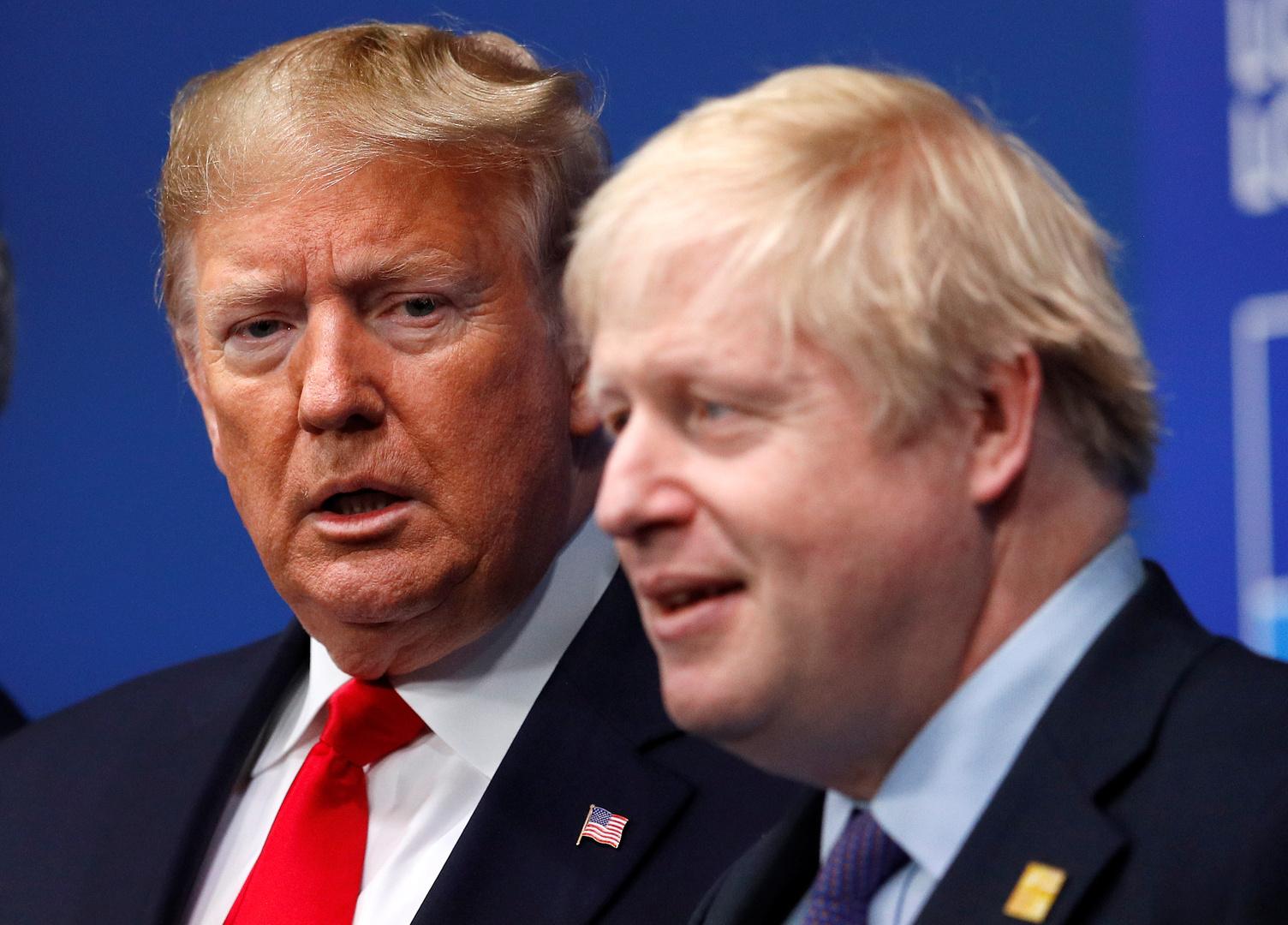 الرئيس الأمريكي دونالد ترامب، ورئيس الوزراء االبريطاني بوريس جونسون