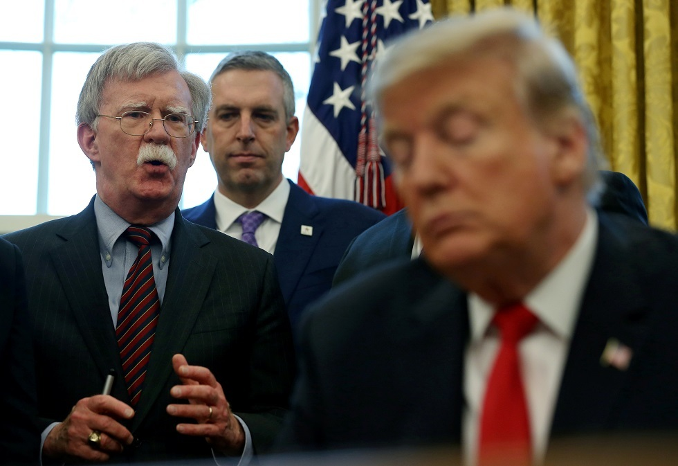 ترامب: لو أنني أصغيت لكلام بولتون لكنا نخوض حربا عالمية سادسة
