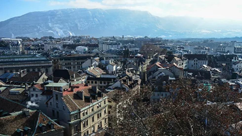مقطع من مدينة جنيف السويسرية