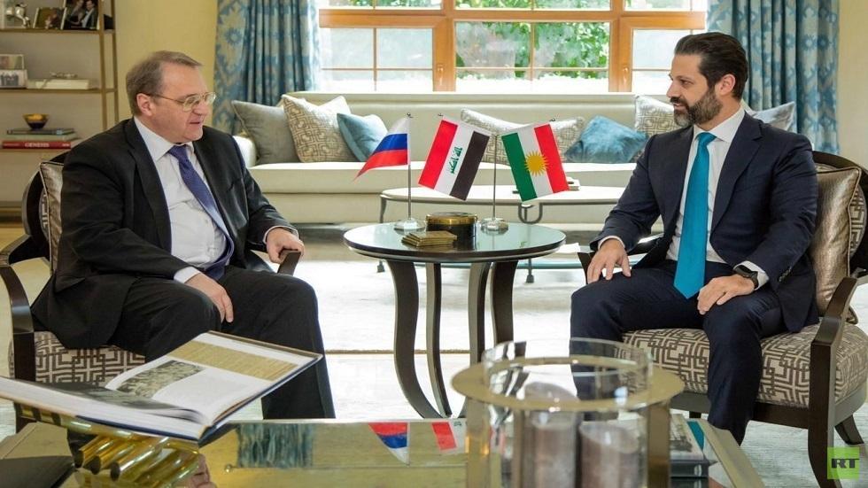 نائب رئيس وزراء كردستان العراق قوباد طالباني ونائب وزير الخارجية الروسي ميخائيل بوغدانوف