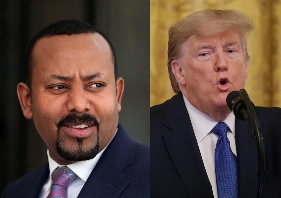 الرئيس الأمريكي دونالد ترامب ورئيس الوزراء الإثيوبي أبي أحمد