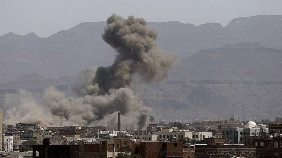 غارة للتحالف العربي على صنعاء- أرشيف