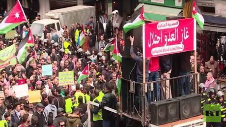 احتجاجات بالأردن ضد اتفاقية الغاز مع إسرائيل