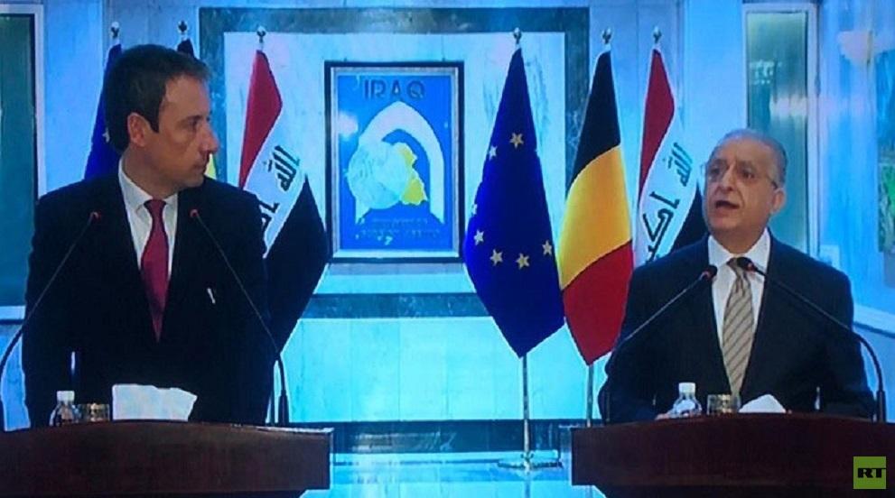 وزيرا خارجية العراق وبلجيكا يبحثان تخفيف التوتر بين أمريكا وإيران