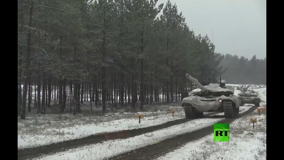 تدريبات دبابات