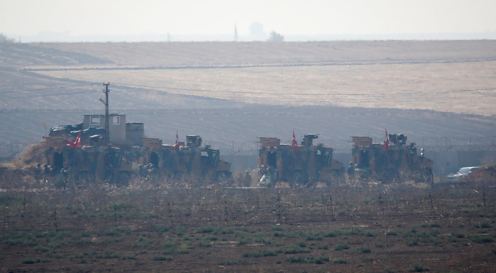 دوريات روسية تركية مشتركة شمال سوريا- أرشيف