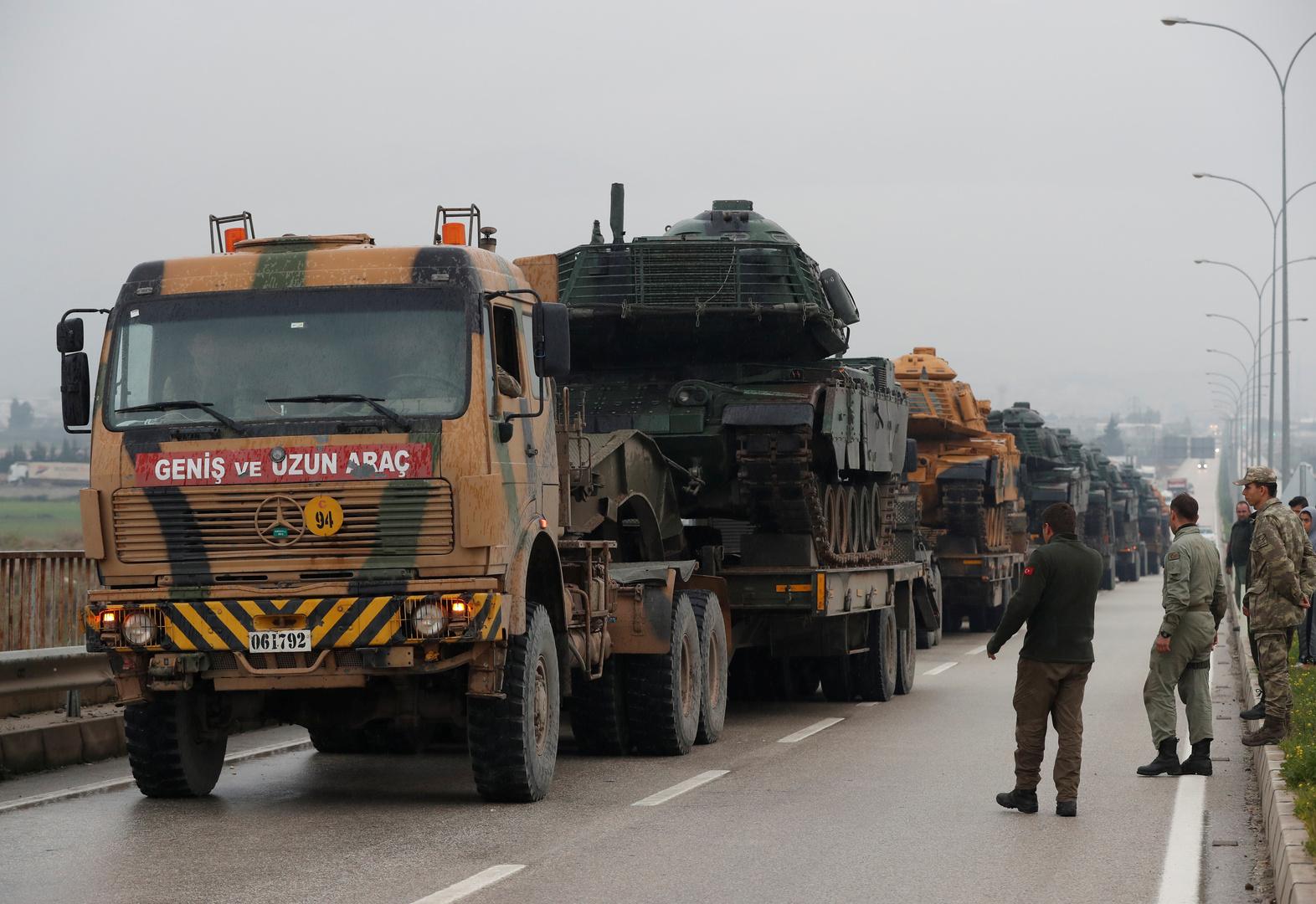آليات عسكرية تركية في هطاي- أرشيف