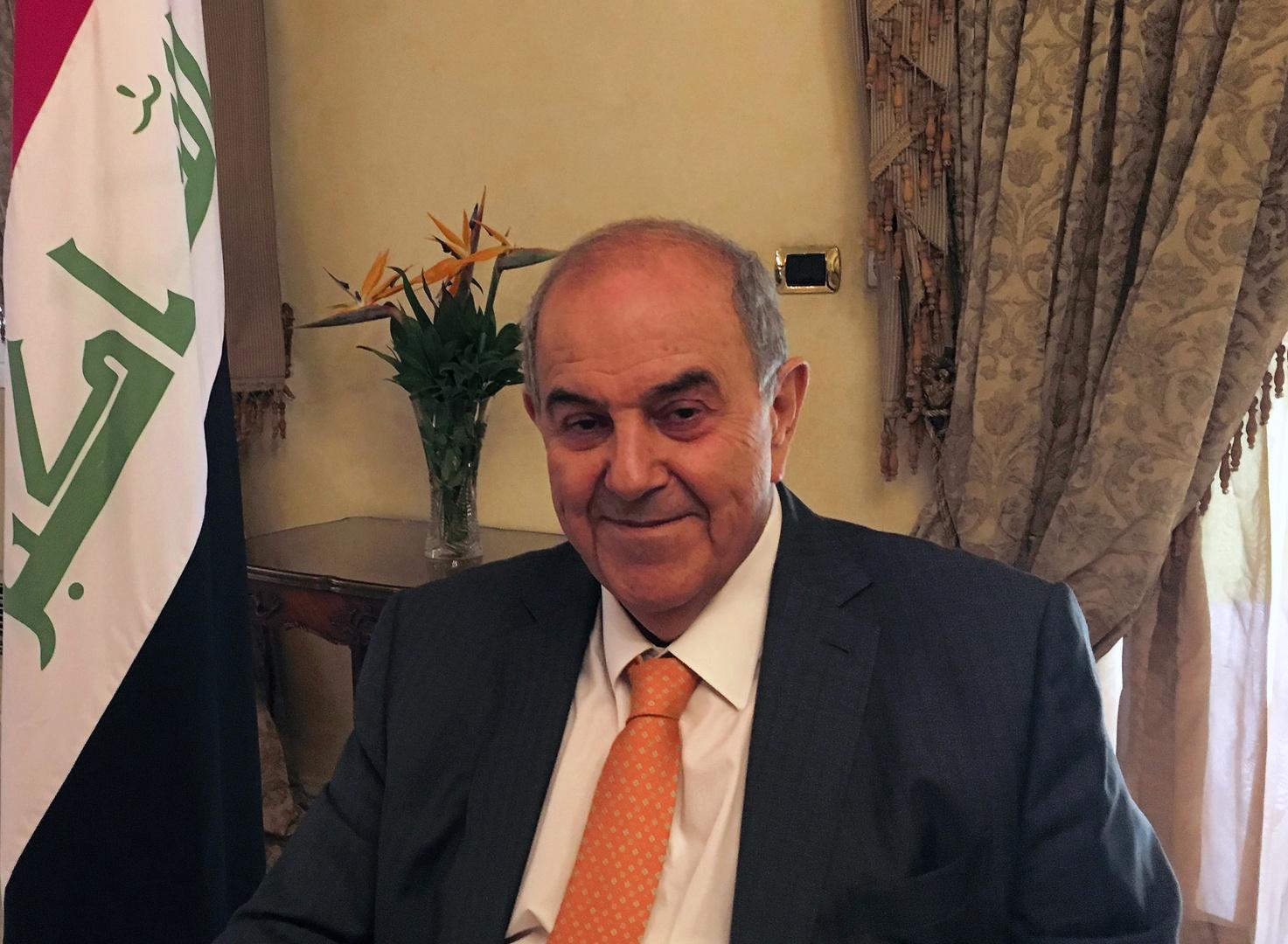 إياد علاوي رئيس الوزراء العراقي السابق