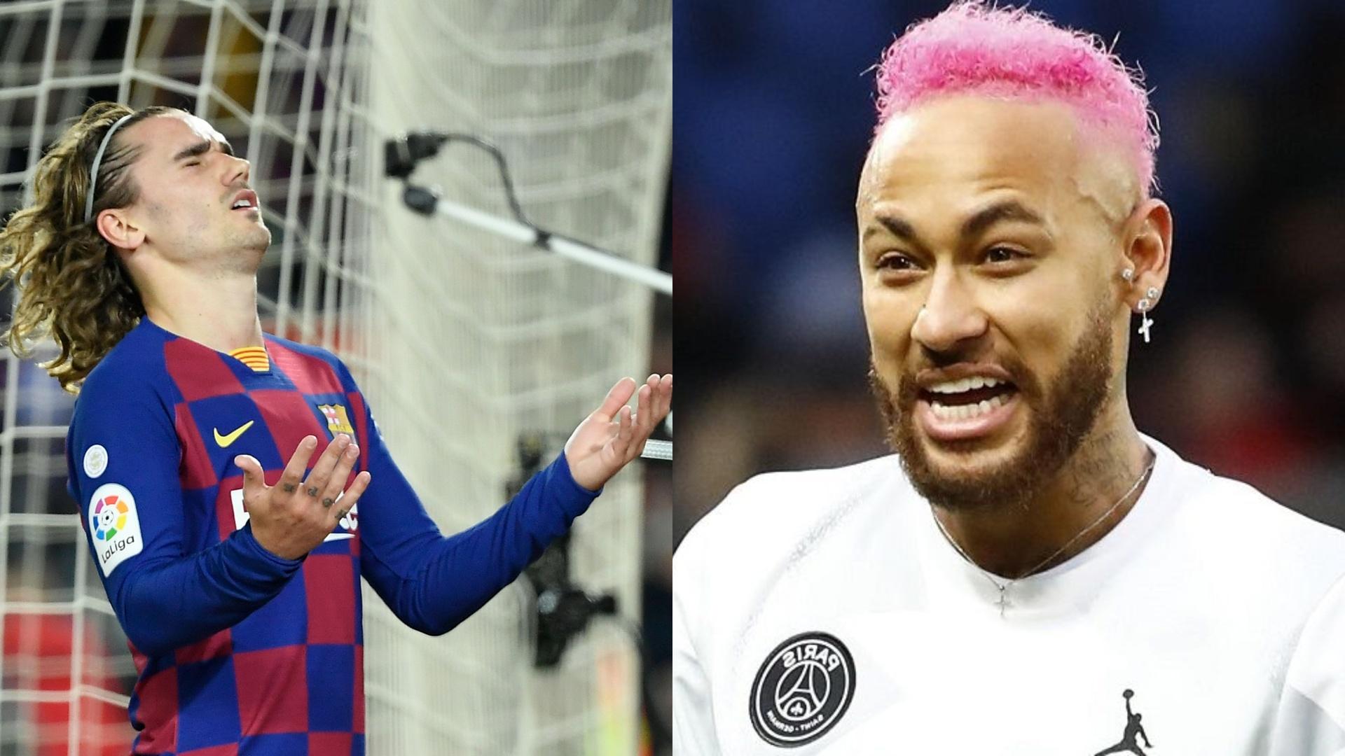 برشلونة مستعد للتضحية بغريزمان كرمى لعيون نيمار