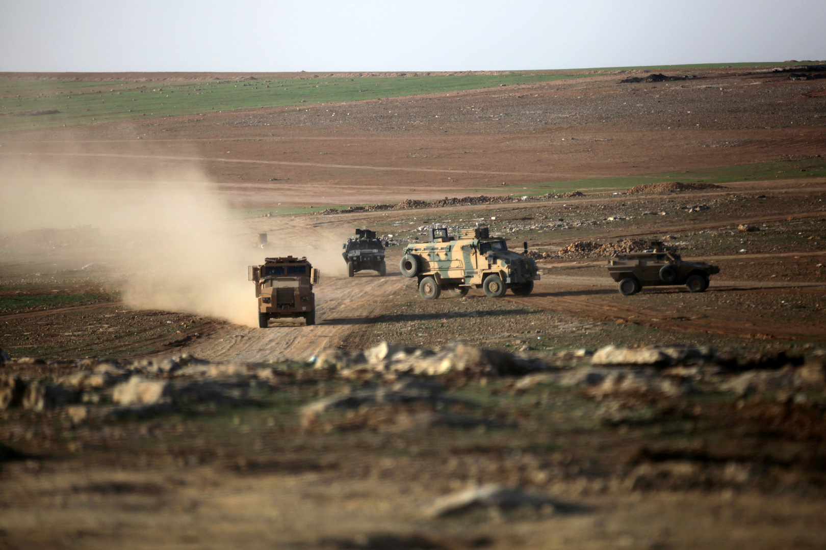 عربات عسكرية تركية شمال سوريا (أرشيف)