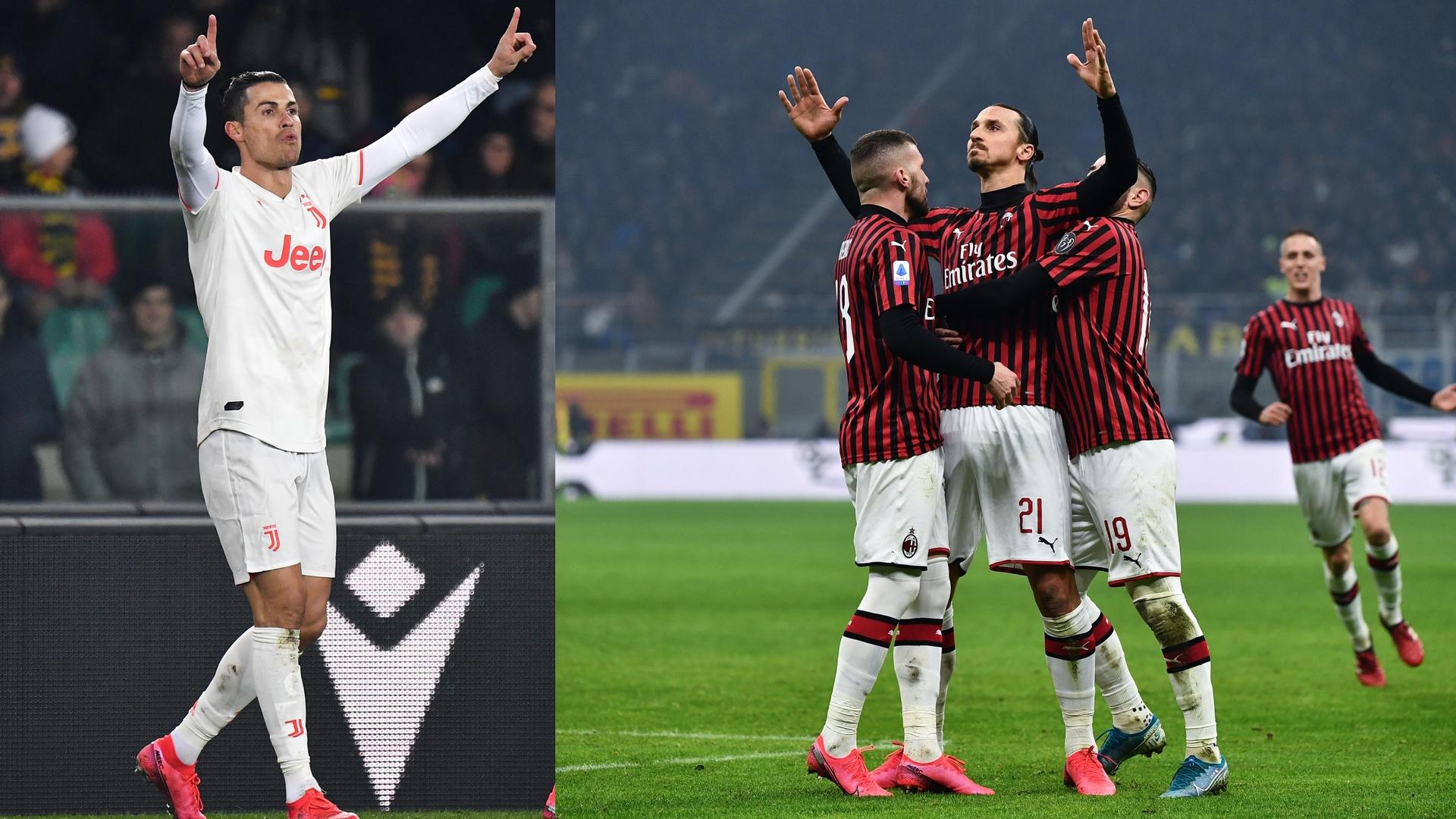 مواجهة العمالقة تحقق أرقاما قياسية  في نصف نهائي كأس إيطاليا