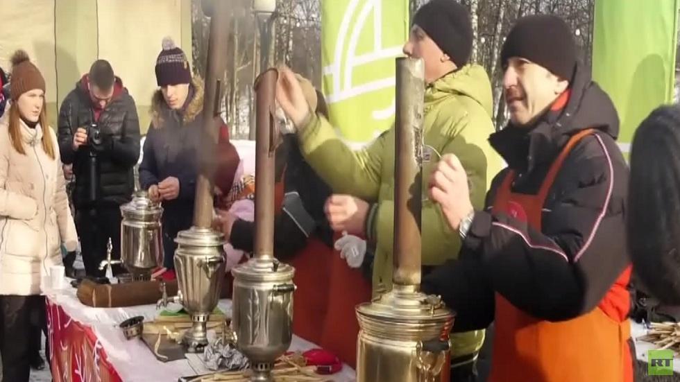 مهرجان إعداد الشاي التقليدي في كلين الروسية