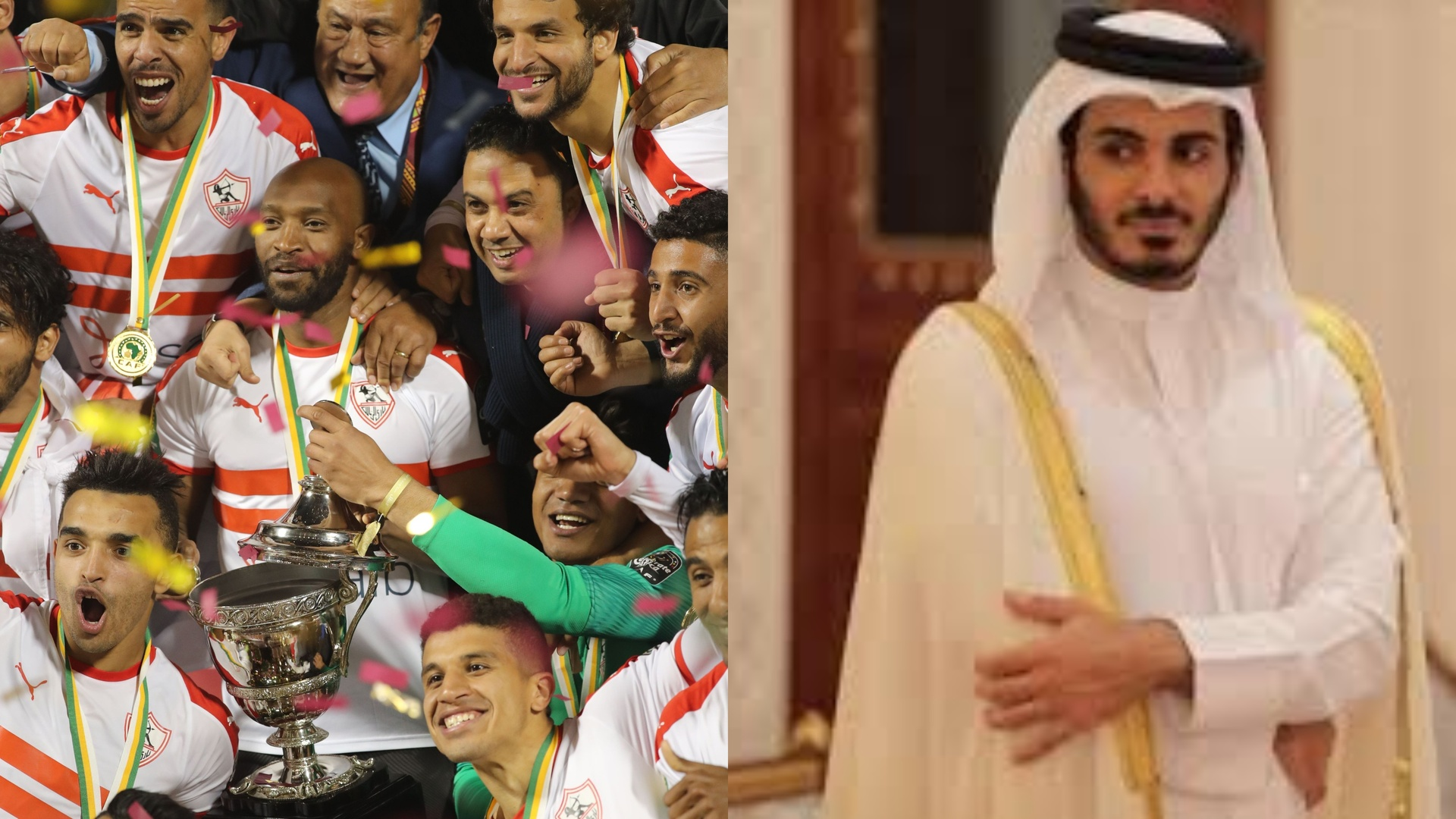 Brother of the Emir of Qatar sends a message to the Egyptian Zamalek