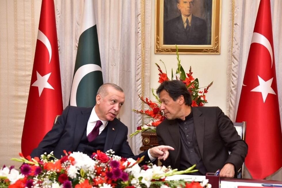 رئيس الوزراء الباكستاني عمران خان والرئيس التركي رجب طيب أردوغان