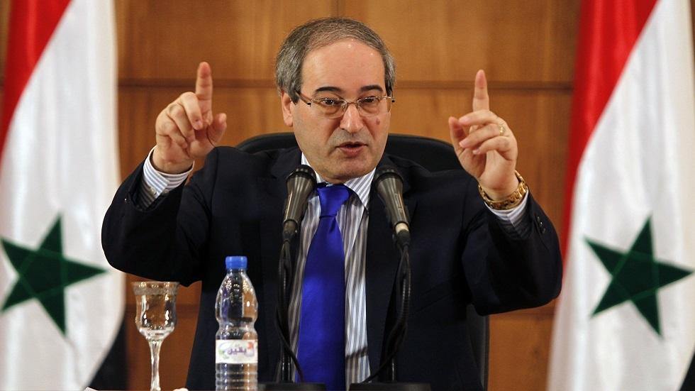 نائب وزير الخارجية فيصل المقداد (صورة أرشيفية)