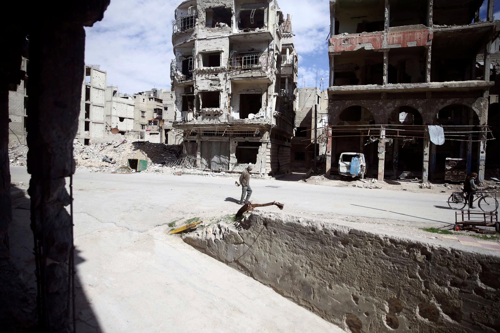 مدينة دوما بغوطة دمشق الشرقية (أرشيف)