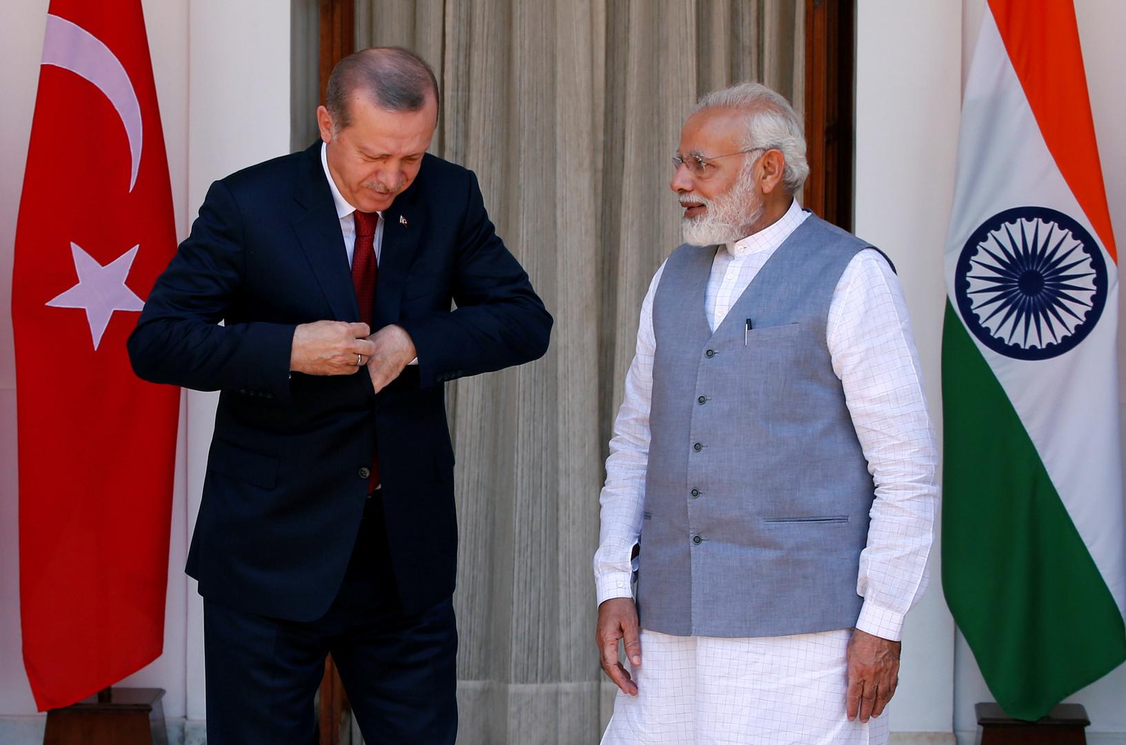 صورة أرشيفية من زيارة أردوغان إلى الهند في 2017