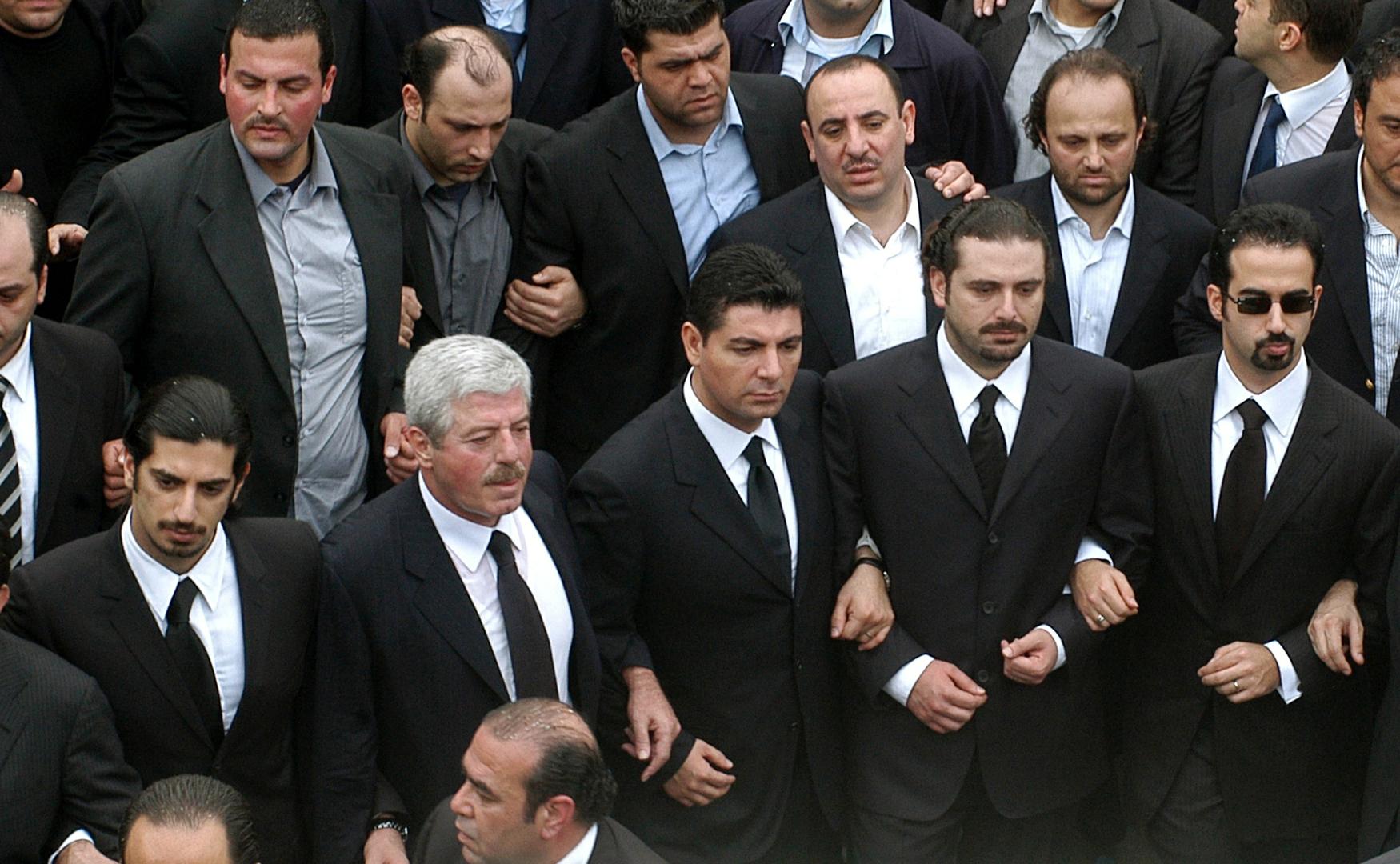 أبناء رئيس حكومة لبنان الراحل رفيق الحريري وشقيقه