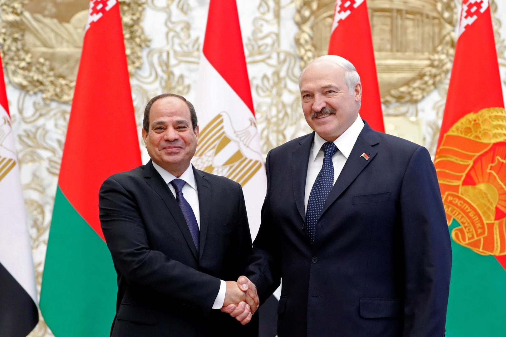 صورة من الأرشيف - الرئيسان البيلاروسي والمصري