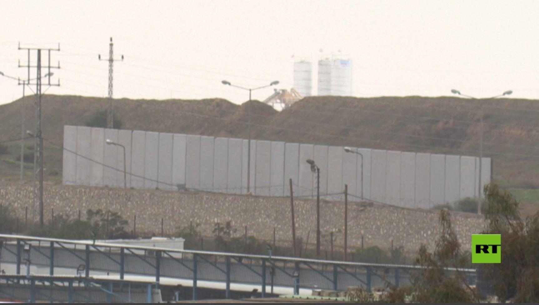 لقطات لتشييد الجدار المصري على الحدود مع غزة